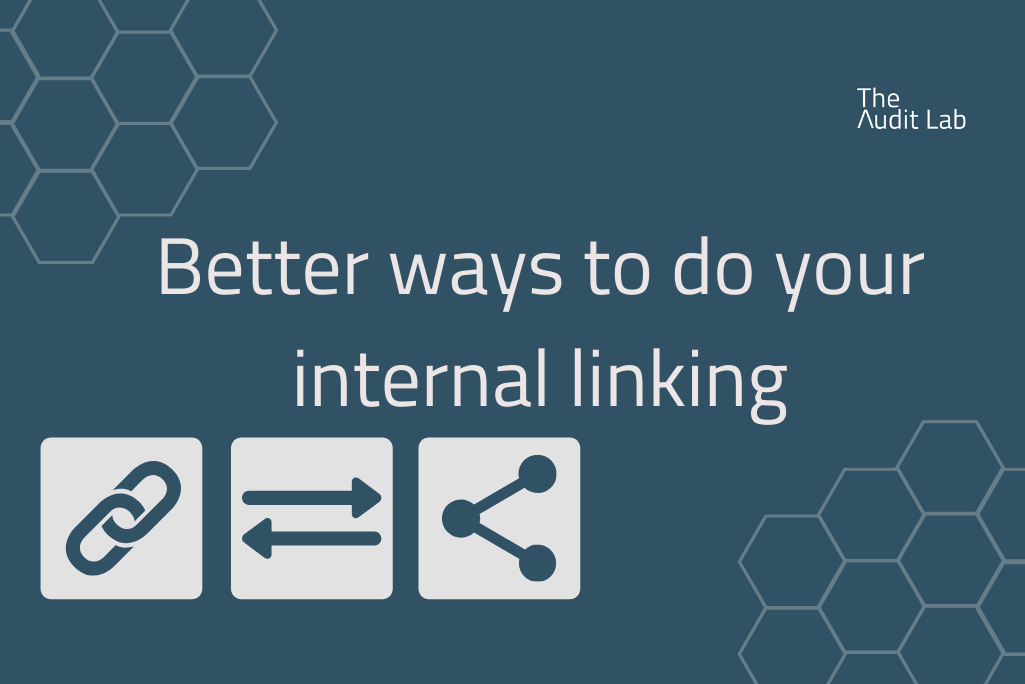 Better ways to do your internal linking blog header.